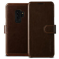 For Samsung Galaxy S9/ Plus Case VRS® [Layered Dandy] Slim Leather Wallet Cover