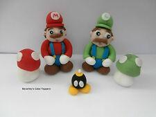COMMESTIBILE Mario e Luigi-PASTA DI ZUCCHERO CAKE TOPPER-Decorazione