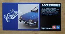 VAUXHALL CARLTON 1978 UK Mkt Small Format Accessories Brochure