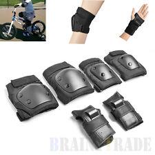 6 in 1 Kids Rollerblade Knee Elbow Wrist Protective Gear Pad Kit for Skateboard