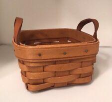 Longaberger Sweet Basil Basket Leather handles