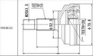 GELENKSATZ ÄUSSER RENAULT CLIO II/KANGOO,/THALIA 1.2,1.4 2000-NEU!