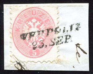 Österreich Stpl. Mi.32 Bfst., WERPOLIE, L2 sauber auf 5 Kr., Fotobefund (193/21)