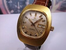RELOJ RARE HAMILTON ELECTRONIC CABALLERO DAY/DATE PLATED MEN'S WATCH