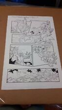 Sonic The Hedgehog Countdown! Art Panel Yardley Pen & Ink Excellent Condition