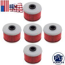 Set of 5 Oil Filter For Honda Big Red 250 Foreman 400 450 500 FourTrax 250 300