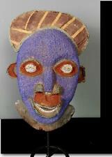 Antiguo Tribal bamileke con cuentas Máscara -- Camerún BN 57
