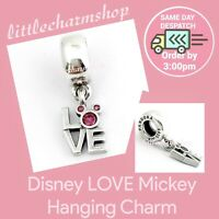 Authentic Genuine PANDORA Disney LOVE Mickey Hanging Charm - 791448CZR RETIRED