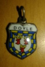 Doyle Coat of Arms / Family Crest Silver Plated Enamel Charm
