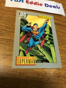 IMPEL MARKETING 1991 DC COMICS MODERN AGE SUPERMAN CARD 18 HERO HERITAGE