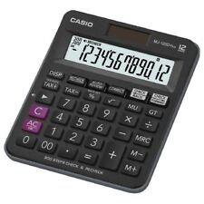 Casio MJ-120D Plus kompakter Tischrechner Check und Correct Funktion schwarz
