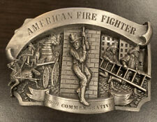 Arroyo Grande Belt Buckle American Fire Fighter 1986 Commemorative Limited