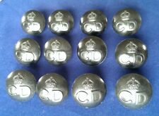 12 x New Old Stock Vintage Civil Defence Buttons for the BD Blouse.