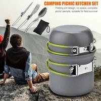Outdoor Camping Kochgeschirr Topf 1-2 Personen Picknick Wandern Küchengeschirr