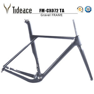 T800 Cycling Carbon Fiber Gravel Bicycle Frames Cyclocross Bike Frameset BB386
