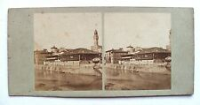 PHOTO STÉRÉOSCOPIQUE STEREOVIEW / VUE DE FLORENCE