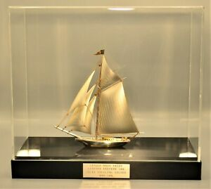 Original Vintage Seki Solid Sterling Silver Nautical Sail Boat Yacht Ship Model