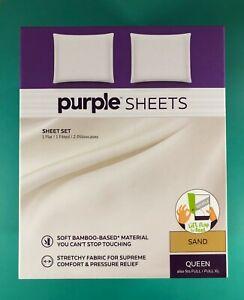 The Purple Sheets Queen Full/Full XL (Purple Mattress Brand) Sand Color NIB