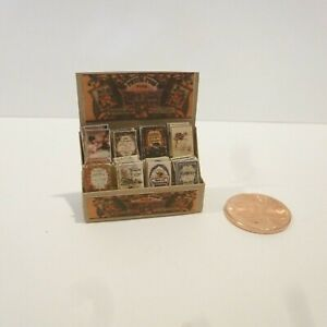 DOLLHOUSE MINIATURE STORE PACKET DISPLAY FOR COUNTER