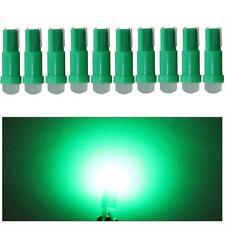 10x T5 Green 58 74 Dashboard Gauge COB SMD Flood LED Wedge Dash Panel Bulb Light
