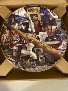 """Hamilton Collection """"The Mantle Story"""" Mickey Mantle Plate NIB"""
