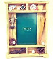 "Prinz Little League Baseball Frame 3-D Resin for 4x6"" Photo Collectible Vtg NEW"