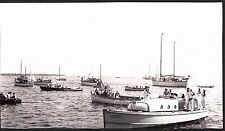PHOTOGRAPH 1939 COAST GUARD NAVY BOAT SAILBOATS GLOUCESTER MASSACHUSETTS PHOTO