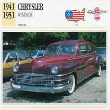 1941-1951 CHRYSLER WINDSOR Classic Car Photograph / Information Maxi Card