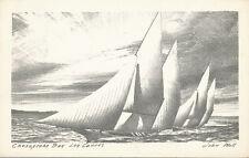 Oxford MD * Chesapeake Bay Log Canoes  c1950 * John Moll Publisher