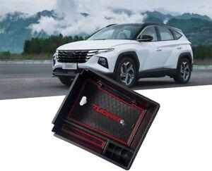 For Hyundai Tucson NX4 2022 2023 Black Center Console Armrest Storage Box 1PC