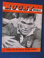 Rugby World April 1962 magazine.