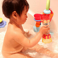 Fun Toys Baby Children Bath Toy Water Whirly Wheel Tube Cup Toy Swim Pool Tub
