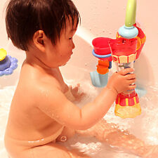 Fun Toys Baby Children Bath Toy Water Whirly Wheel Tube Cup Toy Swim Pool Tub