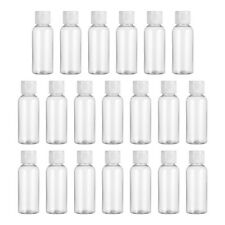 10pcs Plastic Clear Flip Bottles Travel Shampoo Lotion Cosmetic Container 100ml