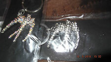 crystal sparkly swallow key ring, CLEAR OR COLOURED stones, new, bag charm