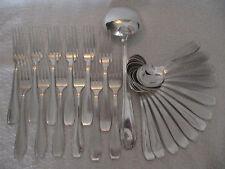 menagère (25 pces) metal argente artdeco LCF (25pieces cutlery set)