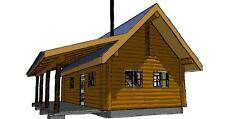 16' x 30' White Pine D-Log Cabin with Porch Package - WHOLESALE Price