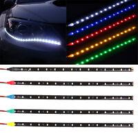 Waterproof Hot 2PC 12 LEDs 30cm 5050 SMD LED Strip Light Flexible 12V Car Decor