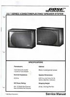 BOSE 2.2 Series II Direct Reflecting Speaker System Service manual original