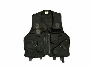 Unisex Protec Black Tactical Vest Combat Security Paintballing BV14A Grade A