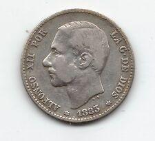 Alfonso XII  1 Peseta  1883   **18/83       NL233
