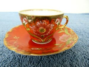 Vintage Erdmann Schlegelmilch ES Demitasse Cup & Saucer Royal Saxe Germany