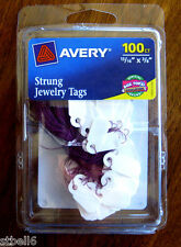 Avery Strung Jewelry Tags 100ct Avery 6731 Tags Garage sale
