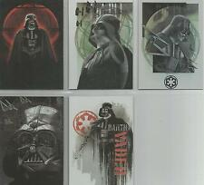 """Star Wars Rogue One Mission Briefing - """"Darth Vader Continuity Cards"""" Set #1-5"""