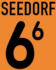 Holland Seedorf local 2000 Camisa Fútbol Fútbol De Impresión De Calor Número Letra H