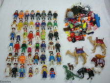 Large Lot of Playmobil Figures, Animals Camels and Accessories