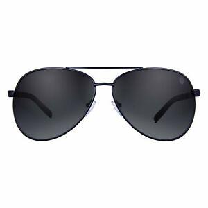 Tom Martin UV-400 Protected Aviator Men's Sunglasses (Matte Black Frame | Black)