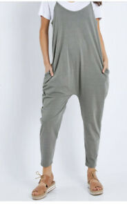 Elm Size 14 Khaki Drop Crotch Jumpsuit Like New