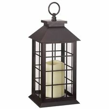 Battery Operated Window Lantern With Timer LED Candle Indoor Outdoor Flickering 1