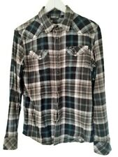 Mens Lee Check Shirt Medium Brushed Cotton Long Sleeve Everyday Casual Top